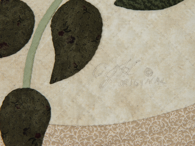 I Promised You a Rose Garden  Burgundy and Neutral wall quilt Photo 4