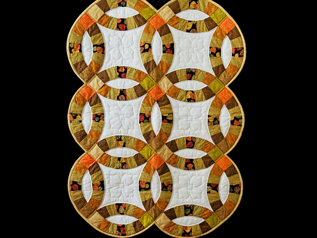 Autumn Colors Wedding Ring Quilt Photo 1