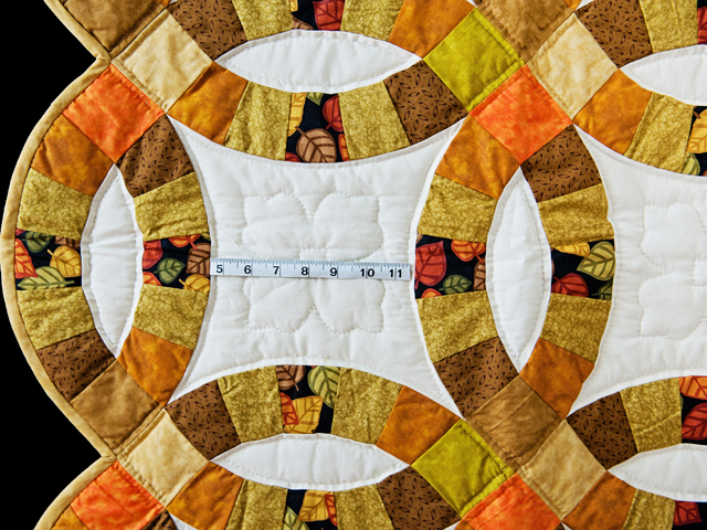 Autumn Colors Wedding Ring Quilt Photo 3