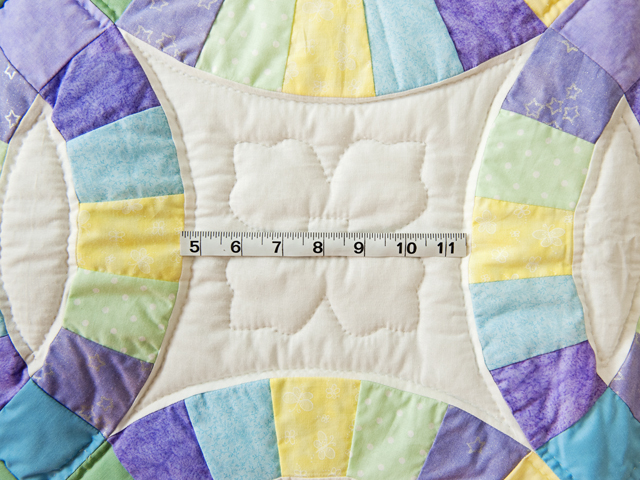 Purple, Pastel and White Wedding Ring Crib Quilt Photo 5