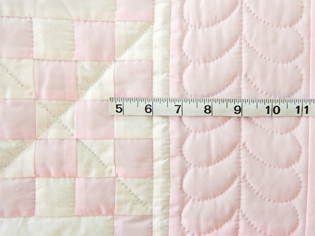 Soft Pink and White Irish Chain Crib Quilt Photo 5