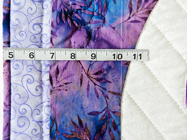 Lavender Blue Iris Appliqué Wall Hanging Photo 5