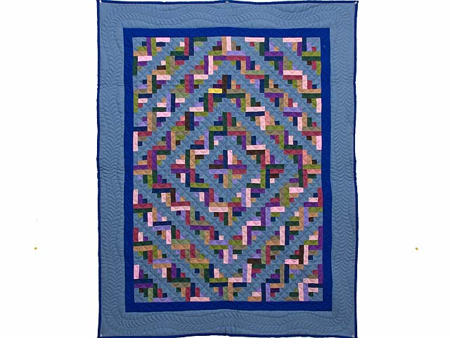 Indiana Amish Log Cabin Quilt Photo 1