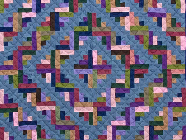 Indiana Amish Log Cabin Quilt Photo 2