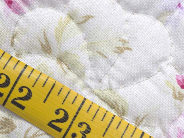 Pink and Cream Floral Nine Patch Crib Quilt Photo 6