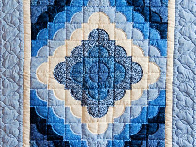 Ocean Wave Shades of Blue Crib Quilt Photo 2