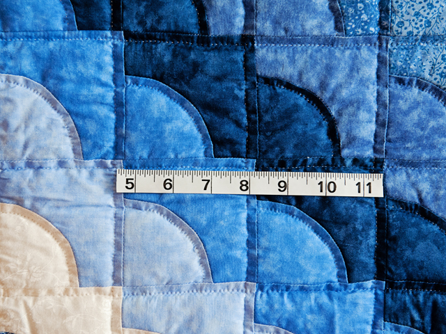 Ocean Wave Shades of Blue Crib Quilt Photo 3
