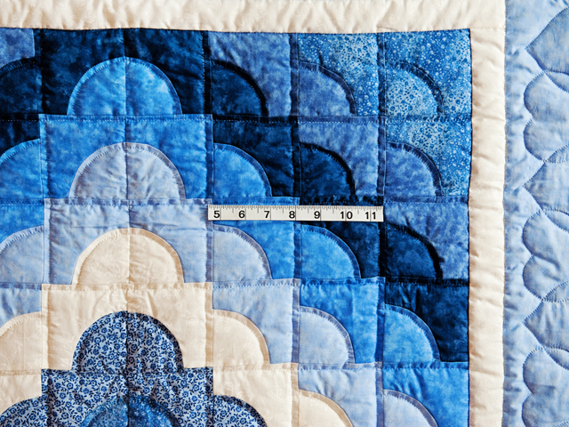 Ocean Wave Shades of Blue Crib Quilt Photo 5