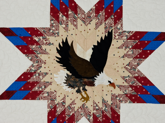 American Eagle And Lone Star Wall Hangingpatriotic Usa