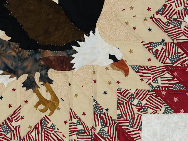 American Eagle and Lone Star Wall Hanging