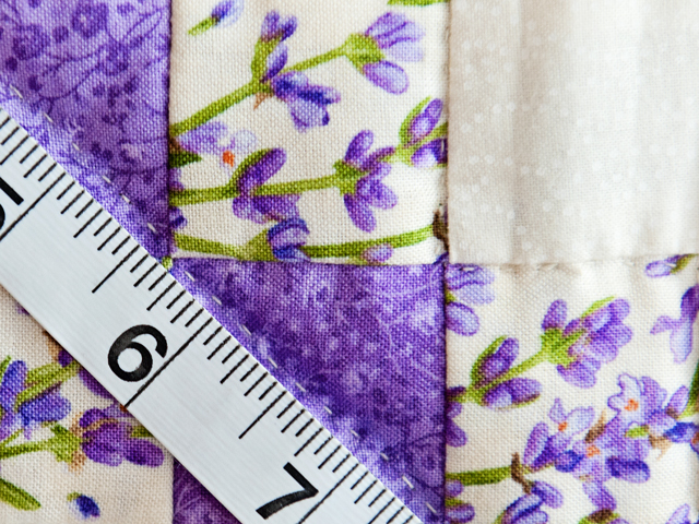 Floral Lavender and Cream Irish Chain Quilt Photo 6