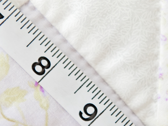 Delicate Lavender and White Pinwheel Crib Quilt Photo 6
