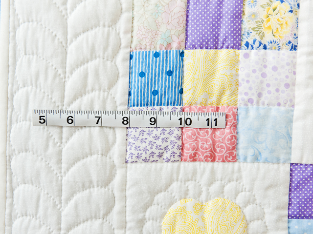 Pastel and White Hearts and Nine Patch Crib Quilt Photo 4