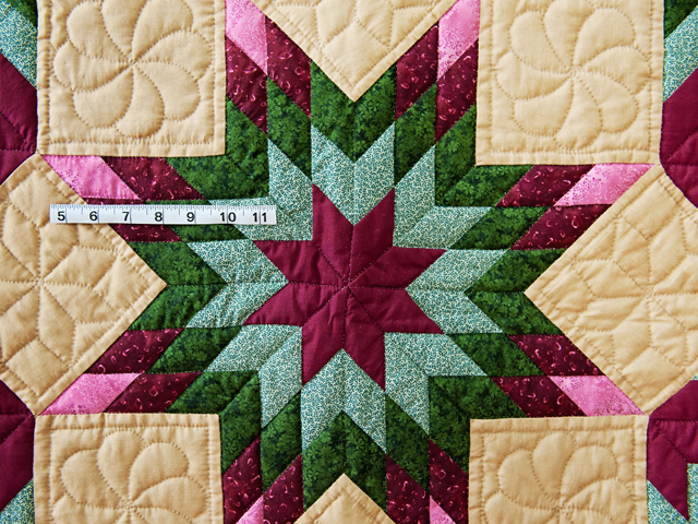 Dark Tan, Burgundy, Rose and Green Broken Star Wall Hanging Photo 3