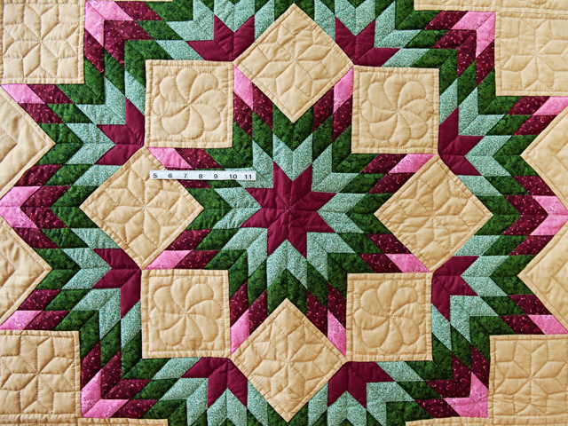 Dark Tan, Burgundy, Rose and Green Broken Star Wall Hanging Photo 5