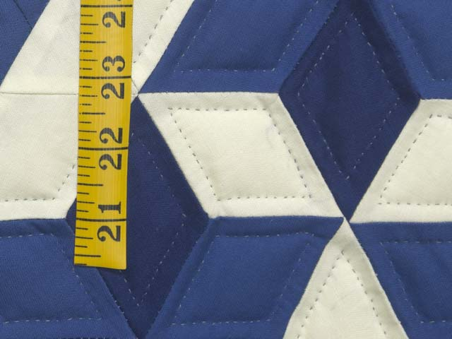 Indiana Amish Blue and Cream Star of David Wall Hanging Photo 4