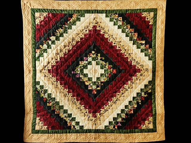 Black, Burgundy, Green and Tan Trip Around The World Wall Hanging Photo 1