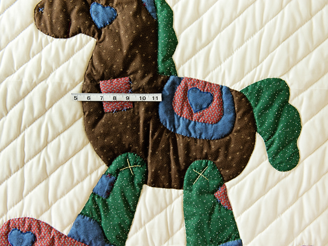 Navy and Multicolor Rocking Horse Crib Quilt Photo 5
