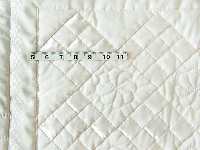 Pure White, Satin and Lace Crib Quilt Photo 3