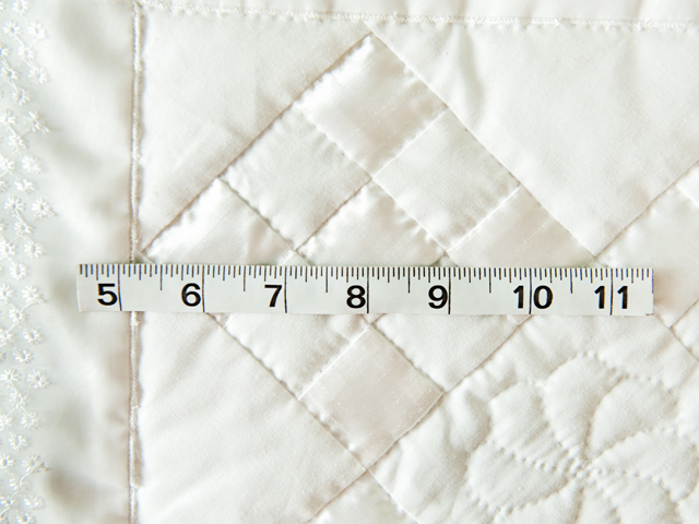 Pure White, Satin and Lace Crib Quilt Photo 4