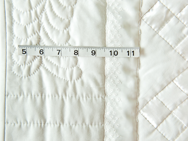 Pure White, Satin and Lace Crib Quilt Photo 5
