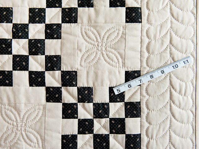 Black and Dark Tan Irish Chain Quilt Photo 5