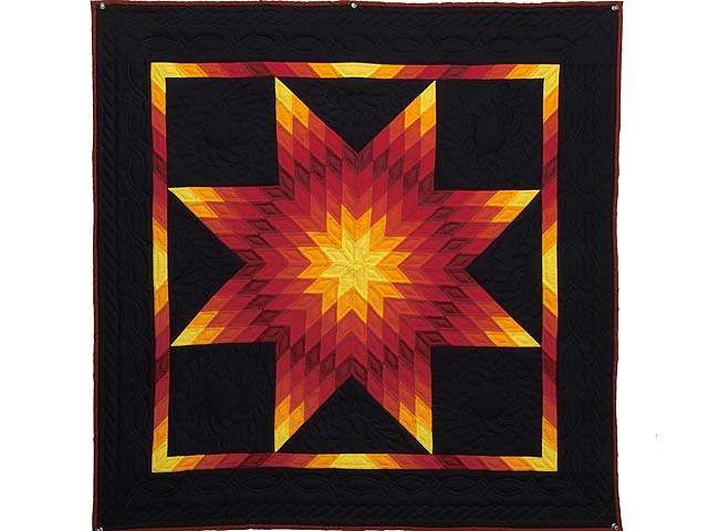 Lone Star Quilt -- magnificent skillfully made Amish Quilts from ... : amish quilt wall hangings - Adamdwight.com