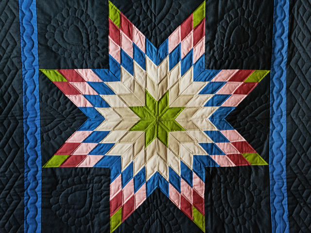 Bright Amish Lone Star Wall Hanging Photo 2