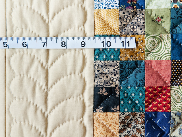 Blue, Multi & Tan Hit or Miss Quilt Photo 3
