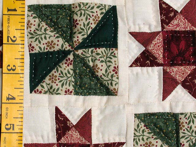 Burgundy and Green Stars and Pinwheels Wall Hanging Photo 4