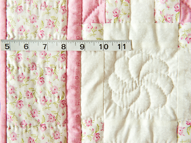 Princess Pink, Floral and Cream Irish Chain Quilt Photo 4