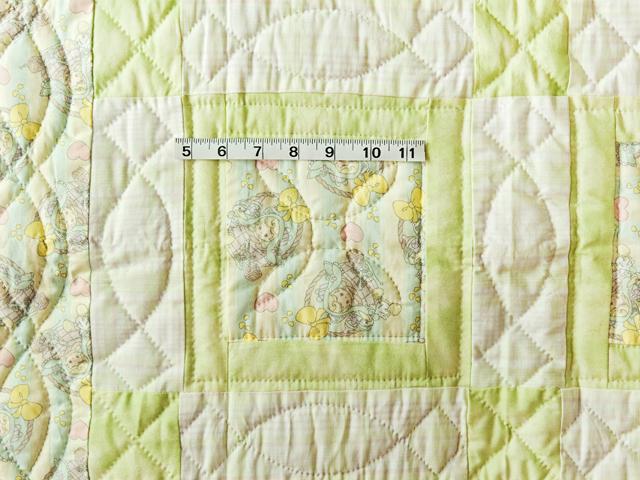 Shades of Green Precious Moments Crib Quilt Photo 3
