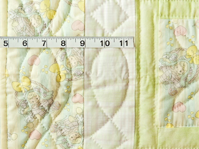 Shades of Green Precious Moments Crib Quilt Photo 4