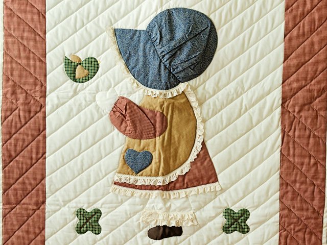 Red Plaid, Multi & Cream Dutch Girl Crib Quilt Photo 2