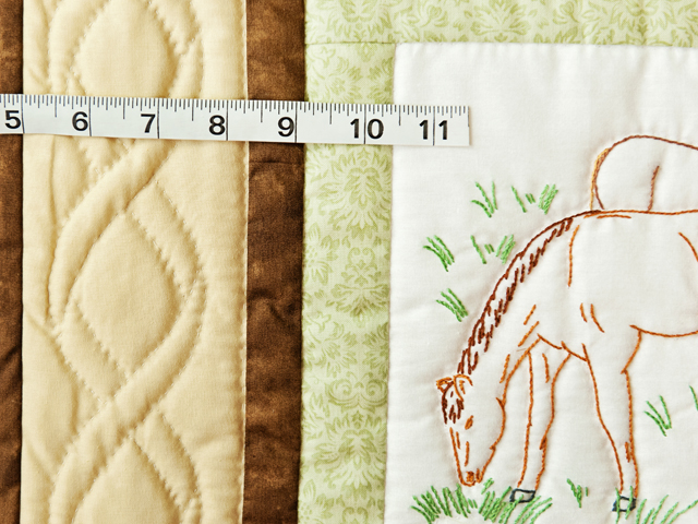 Beautiful Embroidered Horses Crib Quilt Photo 4
