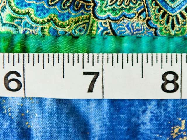Black & Teal Embroidered Peacock Quilt Photo 6