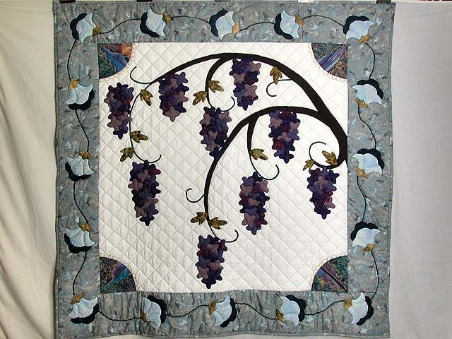 Wisteria Applique Wall Hanging Photo 1