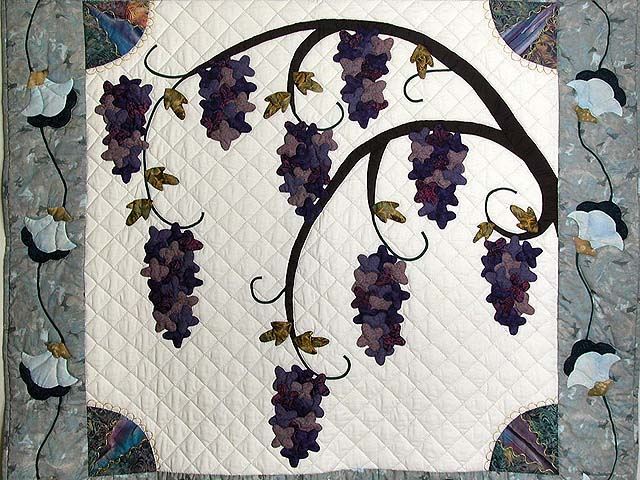 Wisteria Applique Wall Hanging Photo 2