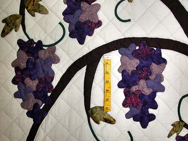 Wisteria Applique Wall Hanging Photo 3