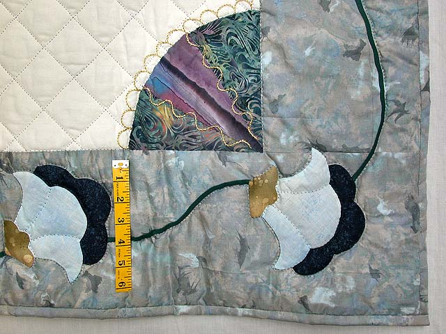 Wisteria Applique Wall Hanging Photo 6