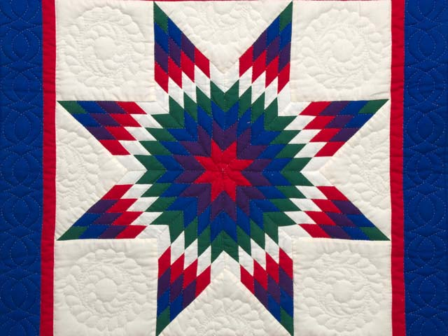 Miniature Indiana Amish Eden Lone Star Quilt Photo 2