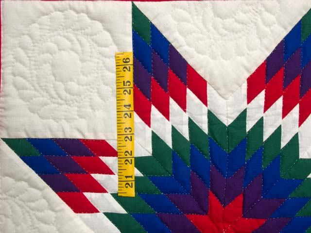 Miniature Indiana Amish Eden Lone Star Quilt Photo 3