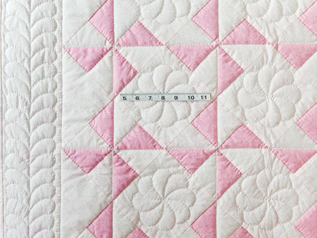 Princess Pink & White Pinwheel Crib Quilt Photo 3