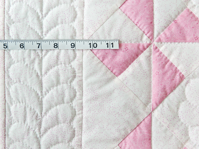 Princess Pink & White Pinwheel Crib Quilt Photo 4