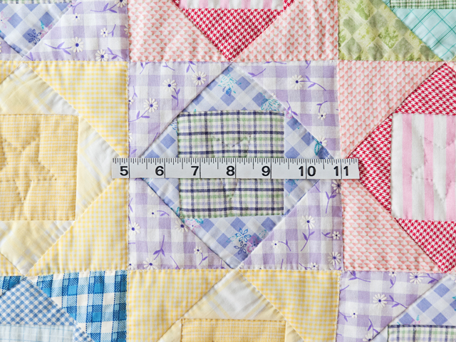Pastel & Green Square on Square Crib Quilt Photo 3