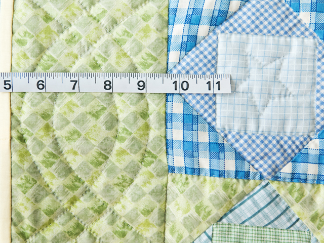 Pastel & Green Square on Square Crib Quilt Photo 4