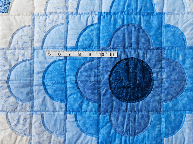 Shades of Blue Ocean Wave Crib Quilt Photo 3