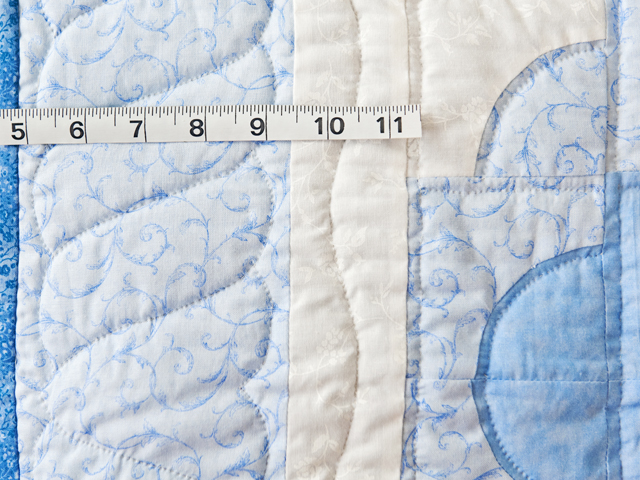 Shades of Blue Ocean Wave Crib Quilt Photo 4