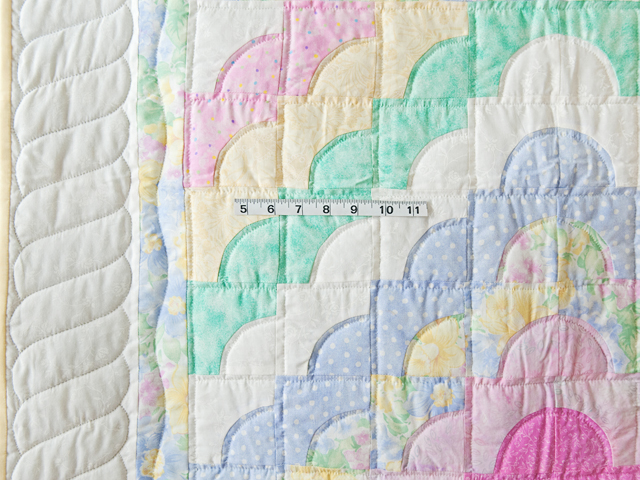 Pastel & White Ocean Wave Crib Quilt Photo 3
