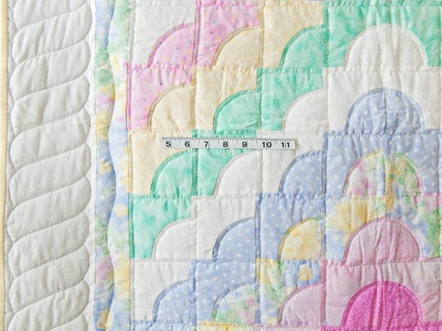 Pastel & White Ocean Wave Crib Quilt Photo 3